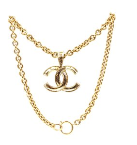 Chanel Rare Timeless Cc Large Gold Interlocking Chain Necklace