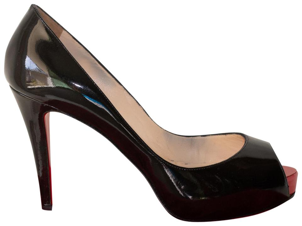 huge discount b812f 44be1 Christian Louboutin Black Very Prive 100 Patent Leather Platform Pumps Size  EU 38 (Approx. US 8) Regular (M, B) 46% off retail