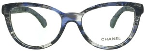 Chanel Butterfly Blue and Black Denim Quilting Eyeglasses 3334 c.1551 54