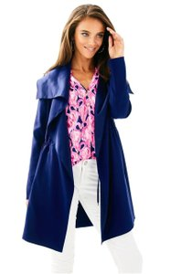 Lilly Pulitzer Checked Trench Coat
