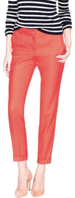 Item - Orange Red Cuffed Wool Cafe Trouser Capris Size 10 (M, 31)
