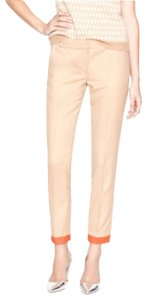 J.Crew Wool Color-blocking Cafe Trouser Cuffed Capris Beige