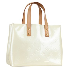 Louis Vuitton Monogram Like New Classic Leather Satchel in White