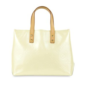 Louis Vuitton Monogram Vernis Leather Reade Satchel in White