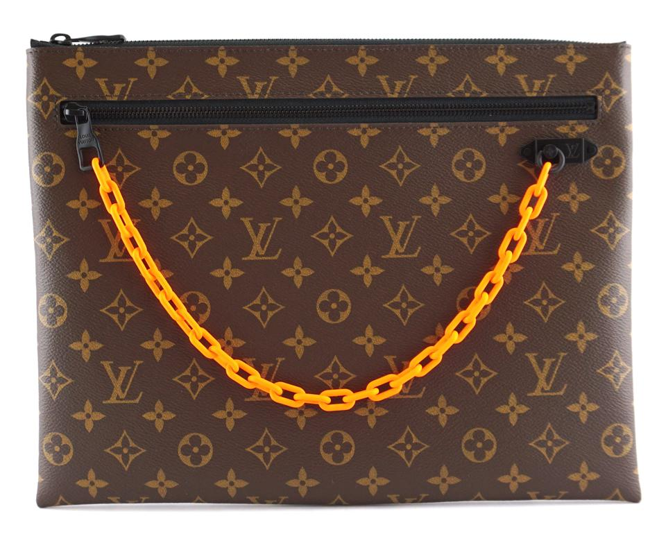 Louis Vuitton Pochette EXTREMELY RARE Monogram Limited LV x virgil abloh  with special black and bright ... c3630f093f