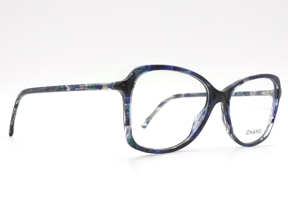 Chanel Chanel Blue Tweed Oversized Eyeglasses Frame 3336 1490. 12345678910 37cbcf8d700