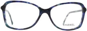 Chanel Chanel Blue Tweed Oversized Eyeglasses Frame 3336 1490
