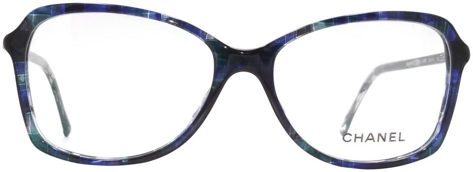 Chanel Blue Tweed (Oversized) Eyeglasses Frame 3336 1490 - Tradesy 2854a78b24c