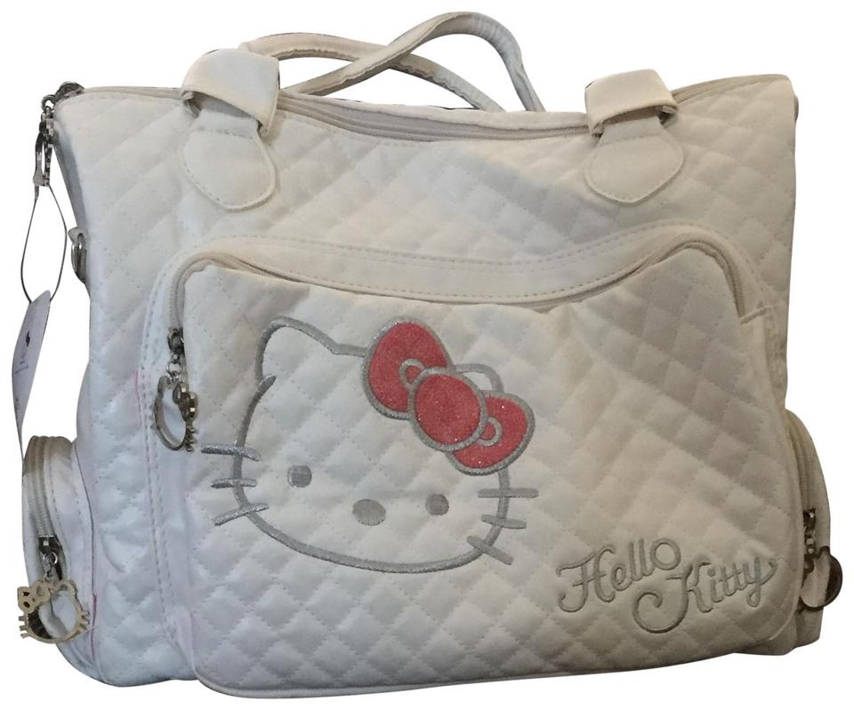 0174a75423 Hello Kitty Large Pristine Quilted Purse W Shoulder Strap White ...
