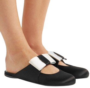 Gucci Loafers Satin Slippers Black Mules