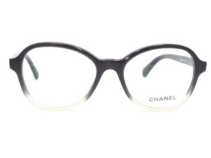 1333c39163 Chanel Black Transparent White Round Eyeglasses 3340 1557 - Tradesy