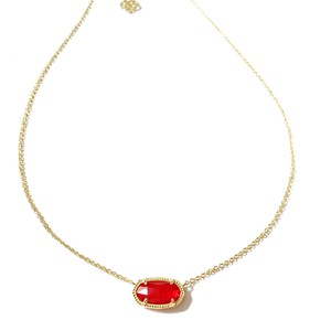 Kendra Scott Brand New Kendra Scott Elisa Necklace in Berry Red 14k Gold