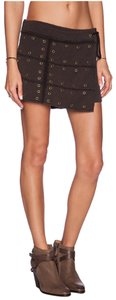 Free People Skort Wanderlust Wrap Skort Washed Black