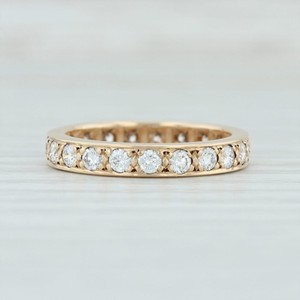 Yellow Gold .80ctw Diamond Eternity Ring - 14k Size 5.5 Stackable Women's Wedding Band