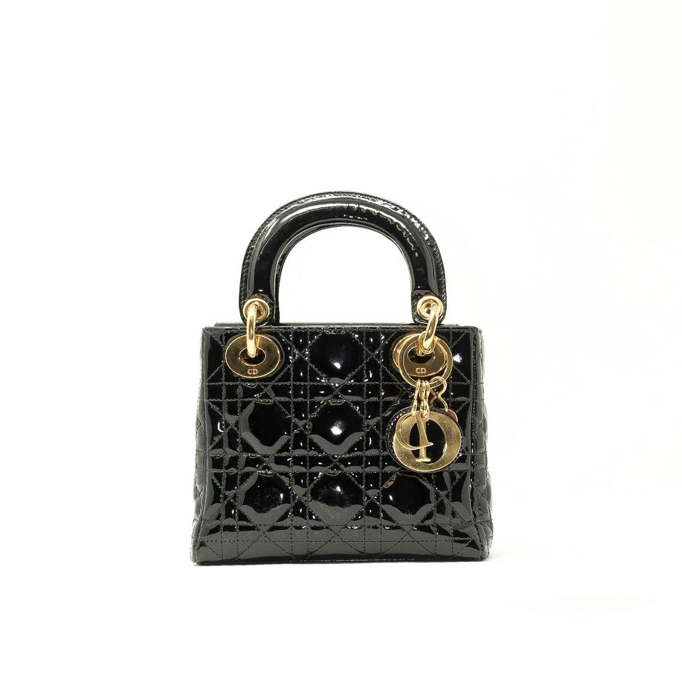 a6036775b1c Dior Vintage Lady Patent Christian 1990s Tote in Black Image 0 ...