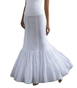 David's Bridal White Nylon Fit and Flare Slip Petticoat Feminine Wedding Dress Size 4 (S)