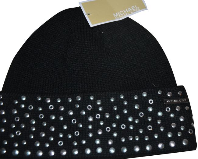 Item - Black Silver Studded Beanie Winter One Size Hat