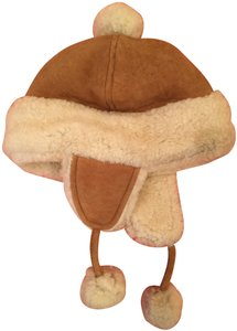 Burberry New Burberry baby suede sheepskin hat 48