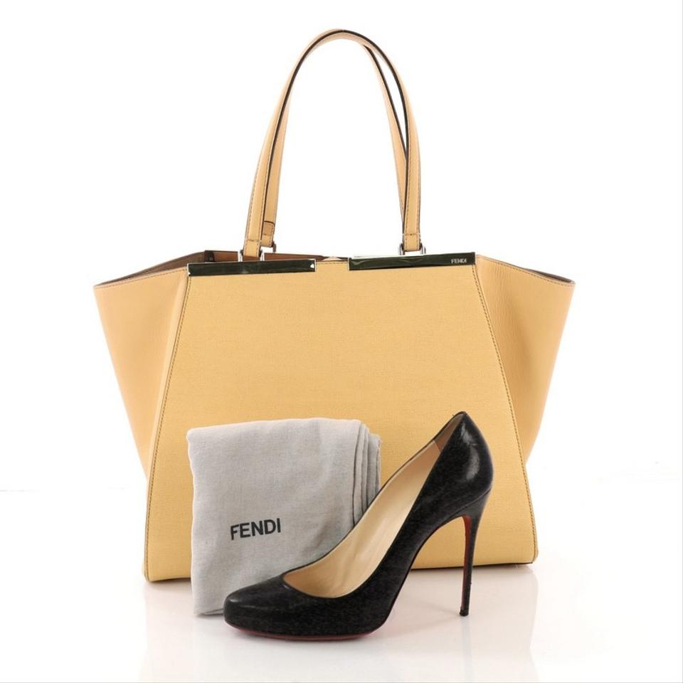 65c346a931 Fendi 3jours Handbag Large Yellow Leather Tote - Tradesy