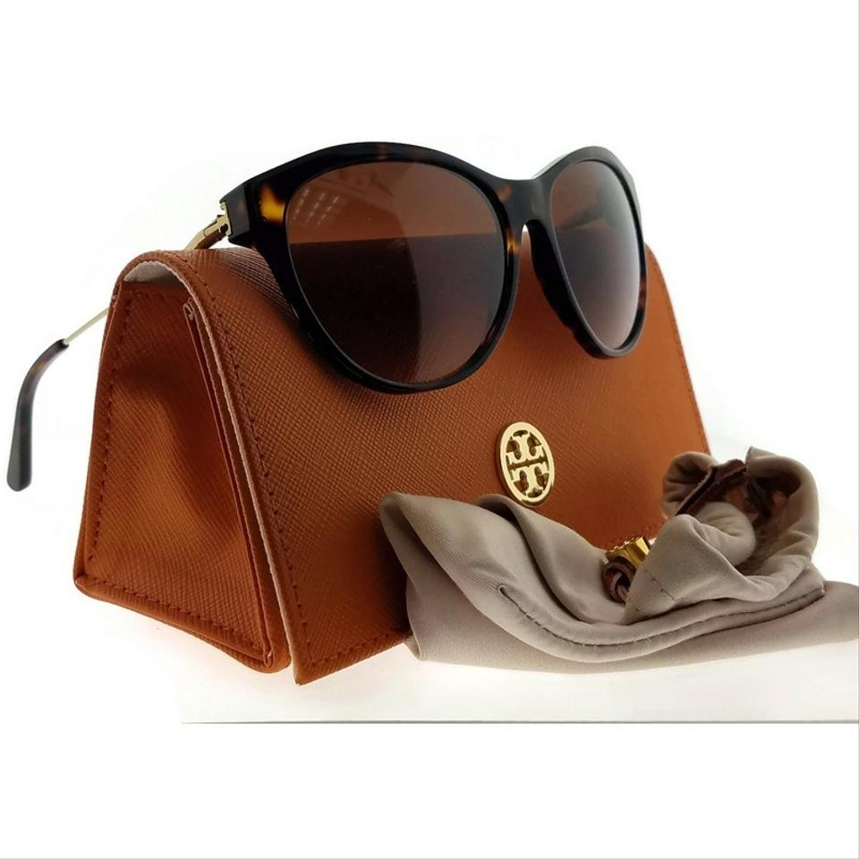 103a3fe28678 Tory Burch Ty7093-103313-56 Cat Eye Women's Havana Frame Brown Lens  Sunglasses