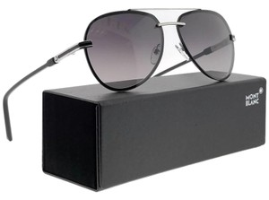 87560fe2fa Montblanc MB643S-16B-60 Pilot Men s Grey Frame Black Lens Sunglasses