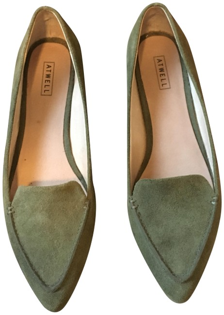 Item - Olive Falyn Pointed-toe Loafers Flats Size US 10 Regular (M, B)