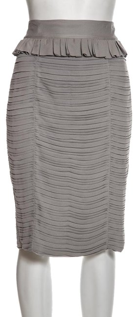 Item - Grey Pleated Skirt Size 4 (S, 27)
