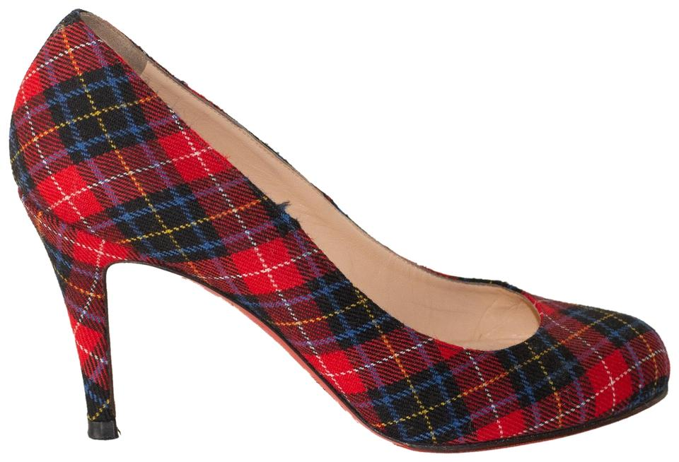 0211763535b Christian Louboutin Red Simple 100 Flannel Pumps Size EU 38 (Approx ...
