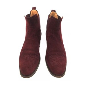 Hermès Suede Classic Chelseaboots Equestrian Burgundy Boots