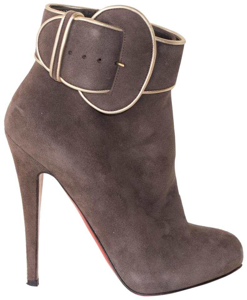 premium selection 09ae5 ab872 Christian Louboutin Brown Trottinette Suede Boots/Booties Size EU 37  (Approx. US 7) Regular (M, B) 68% off retail