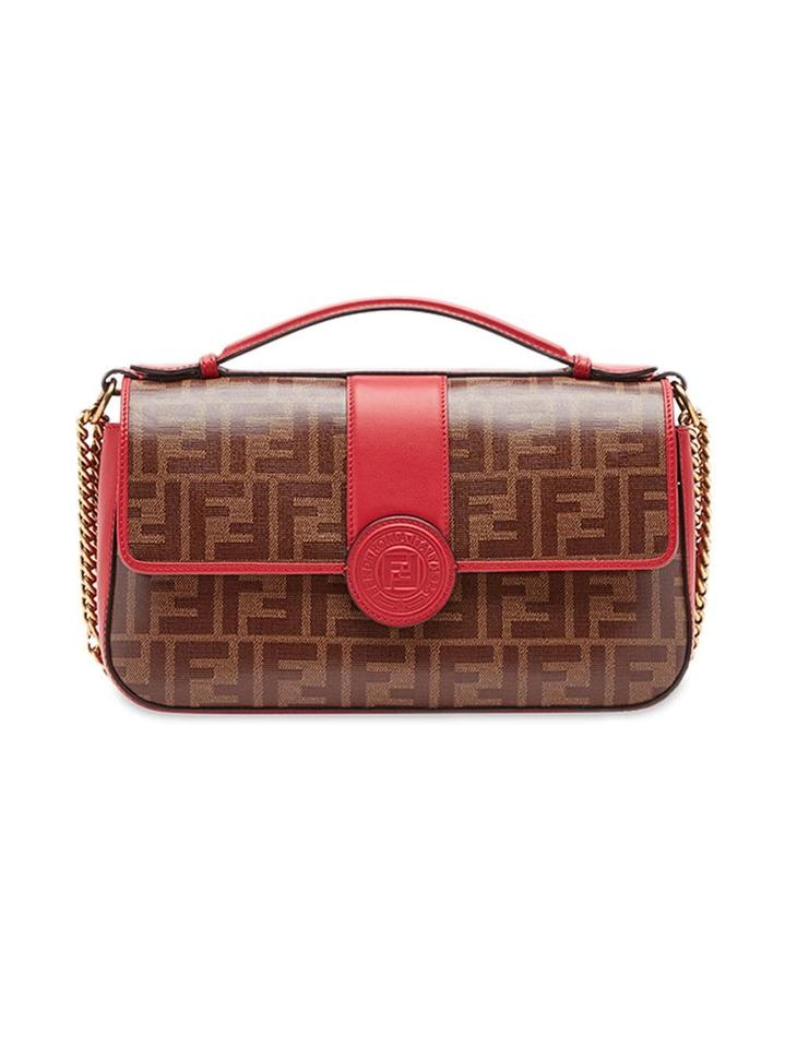 8bdae92d792f Fendi Double F Small Red Multicolor Shoulder Bag - Tradesy