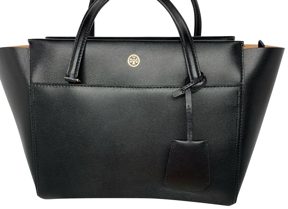 a279c65efd3 Tory Burch Parker Small Black Leather Tote - Tradesy