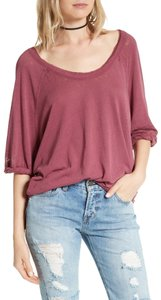 bd07e8c3fc7c4 Free People Slouchy Fit Relaxed Boat Neck T Shirt Mauve