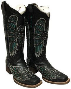 d2b9f57aef7 Corral Boots Ld Black/Turquiose Wing Cross Studs Boots/Booties Size US 7  Regular (M, B) 12% off retail