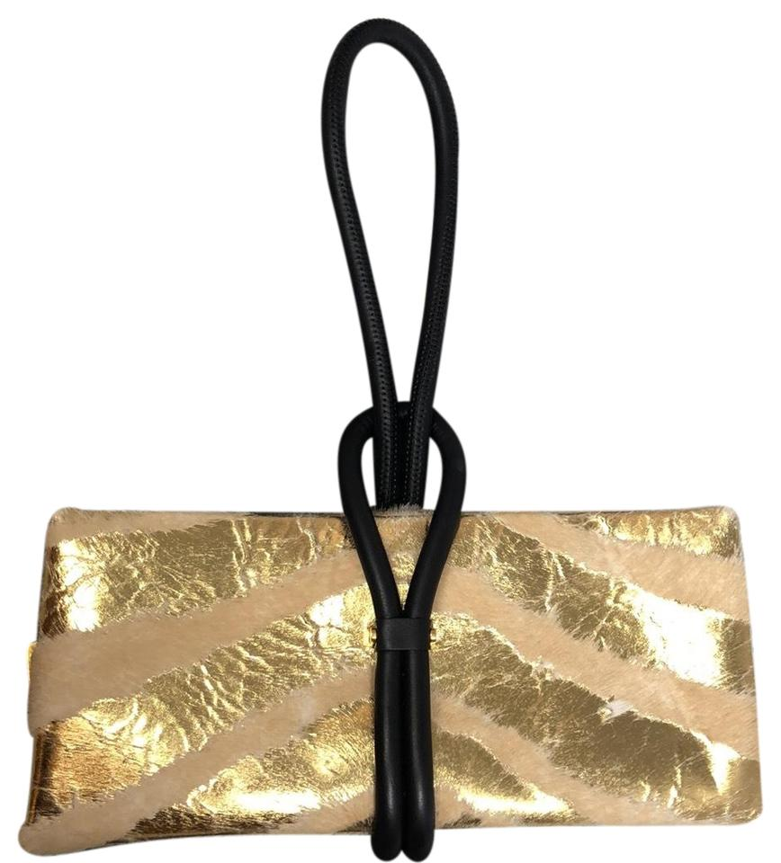 512238a4a4f3 Tom Ford Tubo Wristlet Beige and Gold Calf Hair Clutch - Tradesy