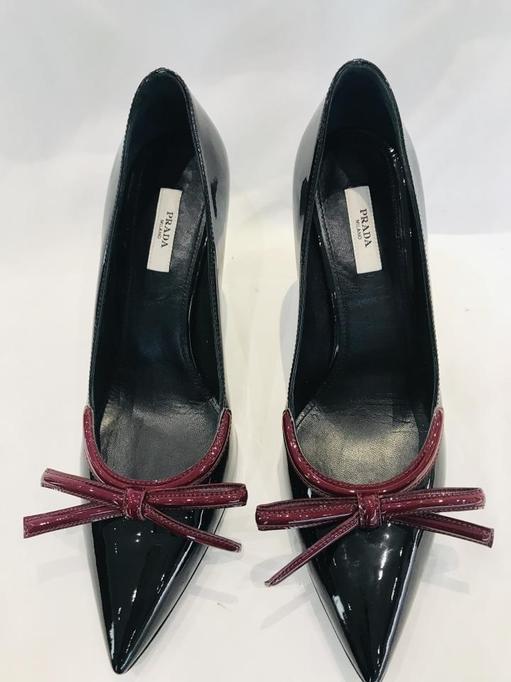 464d45bb13f Prada Black Patent Leather Pointed-toe Pumps Size EU 39 (Approx. US 9)  Regular (M