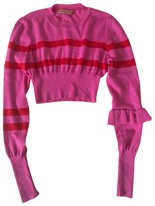 Maggie Marilyn Striped Cropped Sweater