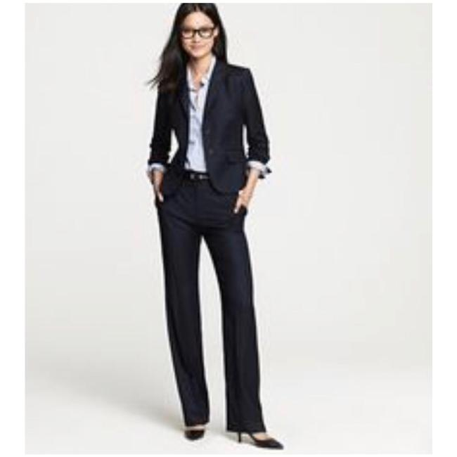 Item - Navy Pinstripe Wool Pant Suit Size 4 (S)