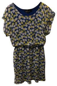 Blue Rain short dress blue/yellow on Tradesy