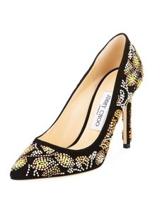 Jimmy Choo Platform Crystal Louboutin Formal Black Pumps
