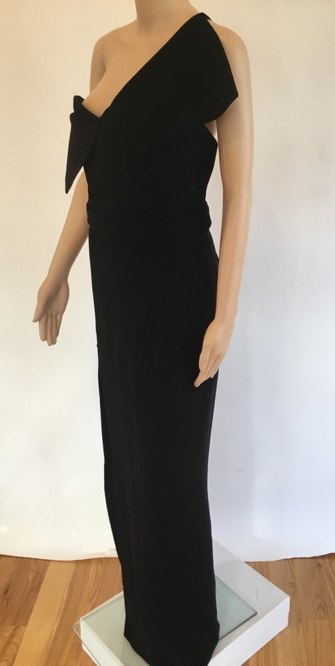 e8a6f20b96ad0 Brandon Maxwell Black One Shoulder Sexy Gown Long Cocktail Dress Size 6 (S)  - Tradesy
