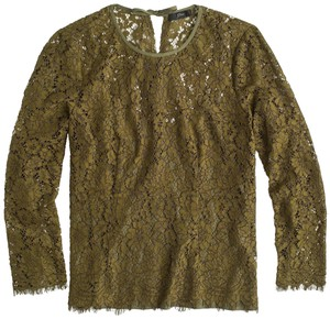 J.Crew Lace Top Burnished Moss