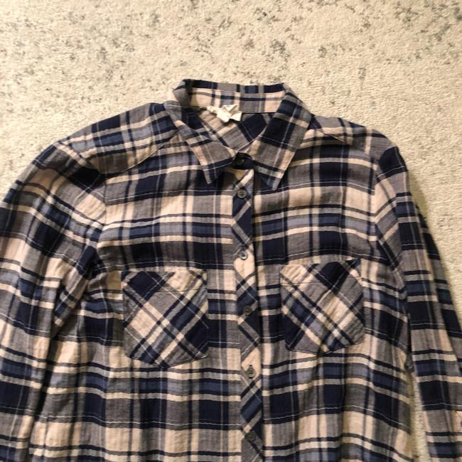 044293652f3 Soft Joie Navy Plaid Pocket Shirt Button-down Top Size 2 (XS) - Tradesy