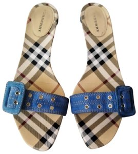 Burberry Blue Sandals