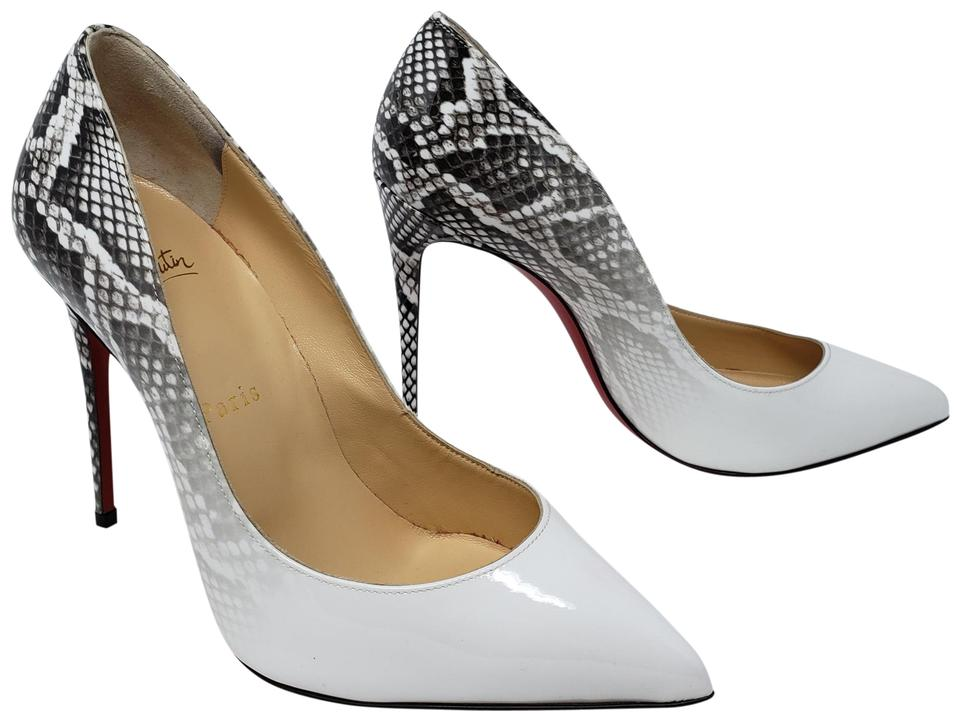 49f39d01002a Christian Louboutin Snakeskin Patent Leather Pointed Toe So Kate Pigalle White  Pumps Image 0 ...