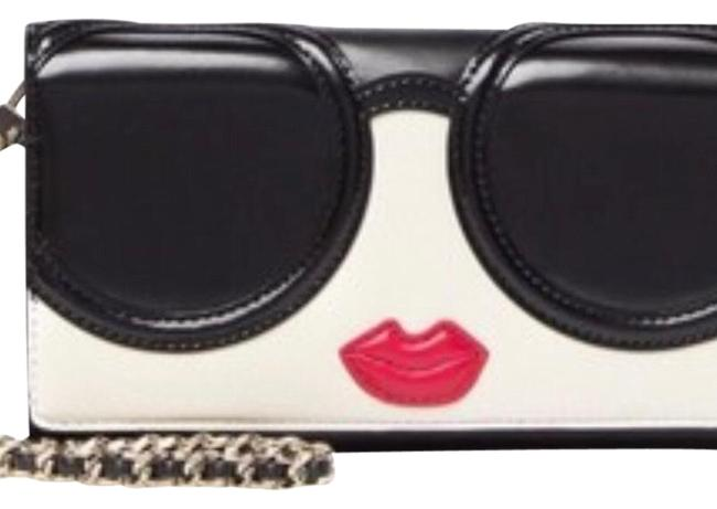Item - Black White and Red Accents Ryder Stace Face Phone Wristlet Wallet