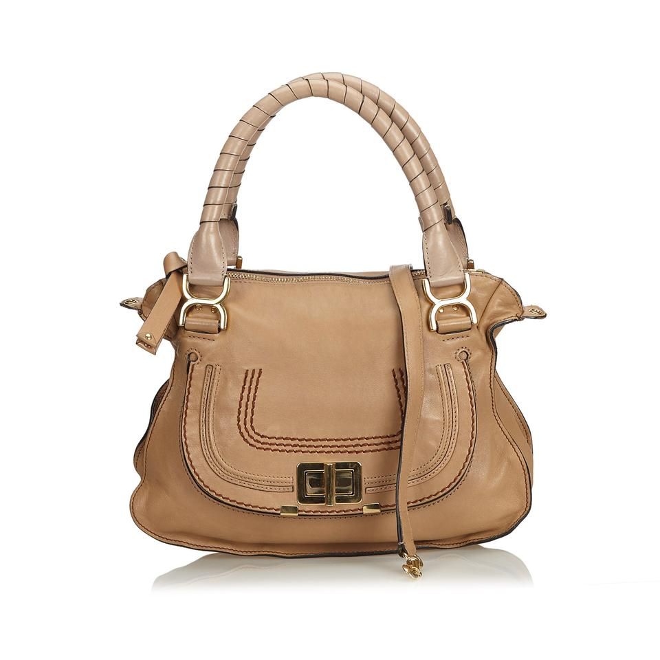 efa38fa581 Chloé Marcie Brown Leather X Others Satchel - Tradesy