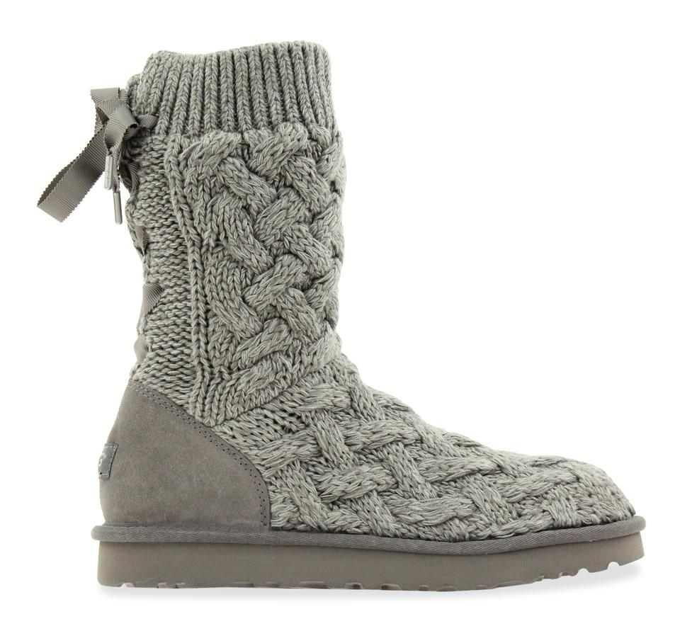 a90c056b92a UGG Australia Gray Isla Sweater and Suede Boots/Booties Size US 10 Regular  (M, B) 51% off retail