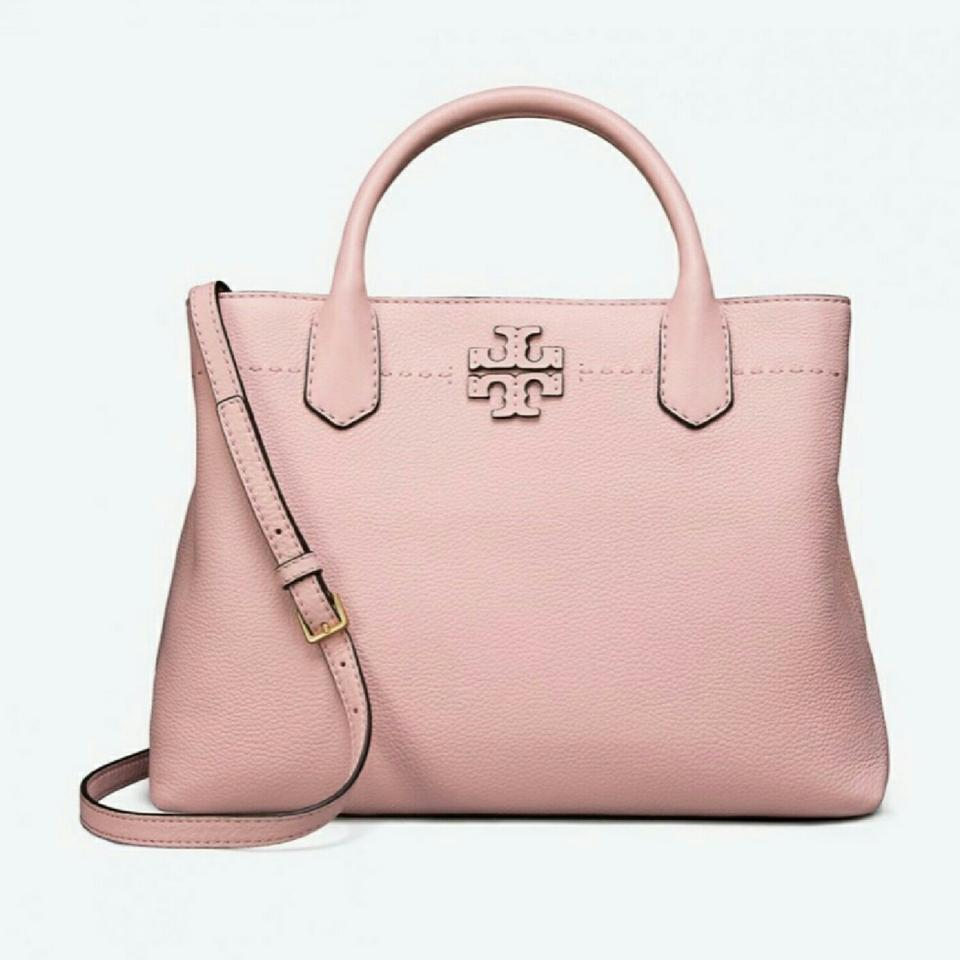 717abc56ef2c Tory Burch Triple Compartment Tote Donna Pink Quartz Leather Satchel ...