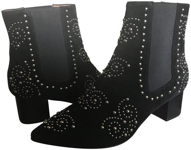 Item - Black/Silver Studded Ankle Boots/Booties Size US 9 Regular (M, B)